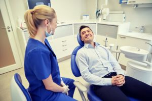 man smiling at Farmington dentist