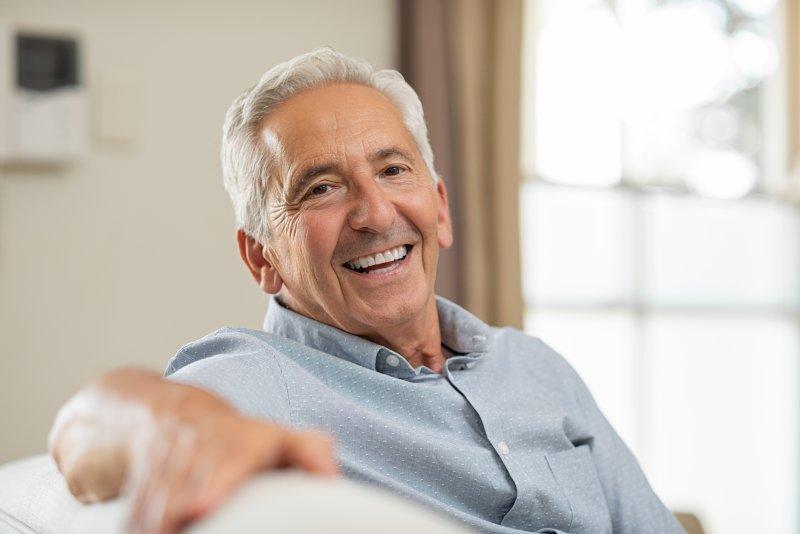 senior adult smiling